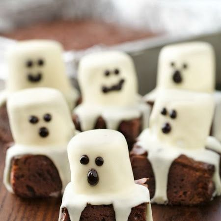 Spooky Boo Brownies #desserts #treats #halloween | All Hallows Eve ...