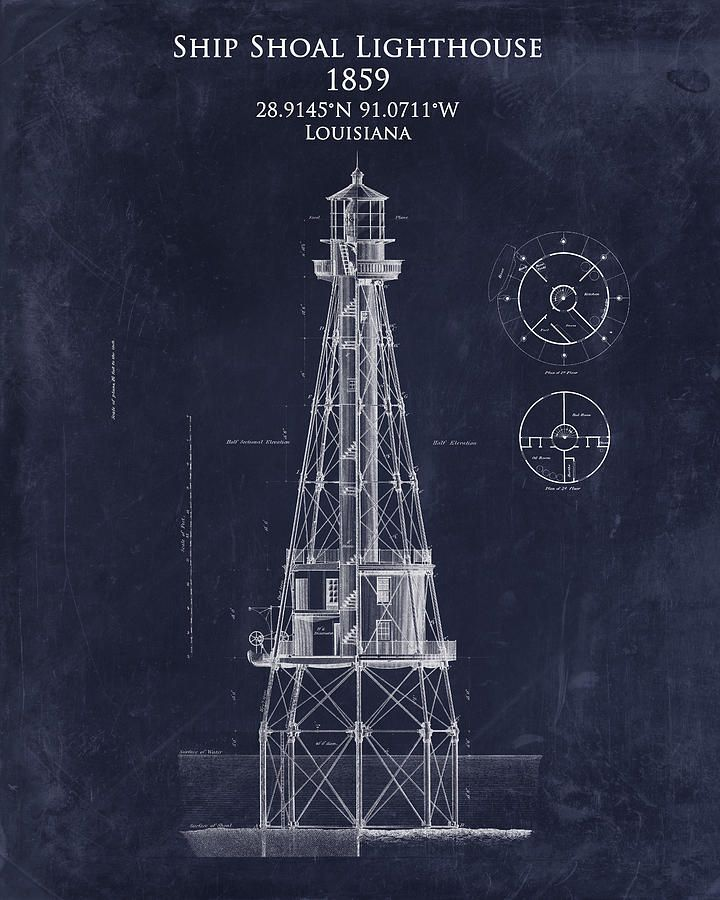 Ship shoal lighthouse blueprint art print 720900 blueprints ship shoal lighthouse blueprint art print 720900 malvernweather Gallery