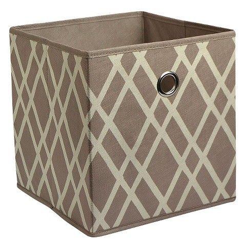 Room Essentials Storage Bin   Mocha Pattern