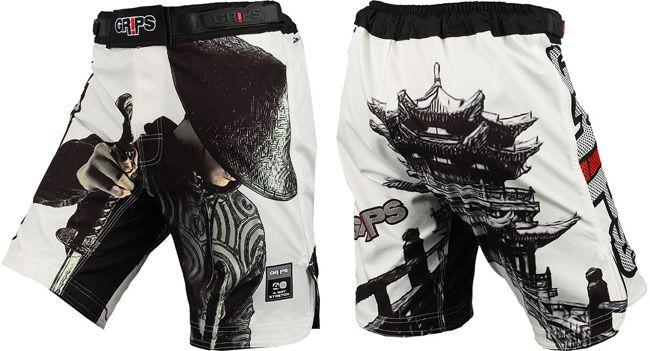 Grips Athletics Jarama Samurai Fight Shorts Available And In Stock On Www Thatmmashop Com Fight Shorts Crossfit Shorts Training Shorts