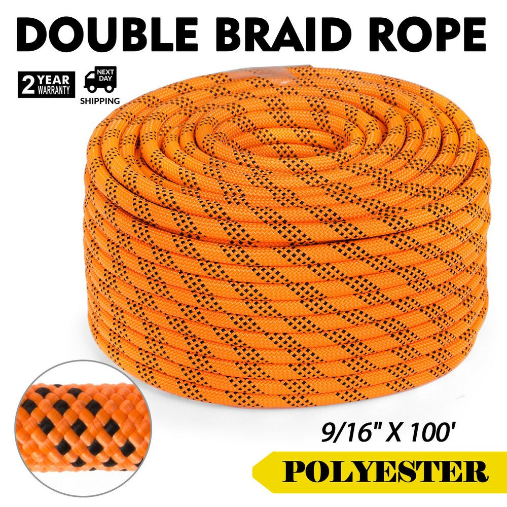Advertisement Ebay 100 Feet 5 8 Double Braid Rope 12300lbs Breaking Strength New 2018 Stock Double Braid Climbing Rope Braids