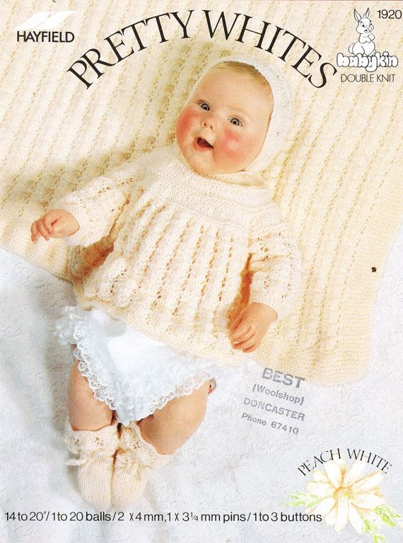 Hayfield 1920 baby angel top matinee dress vintage by Ellisadine ...