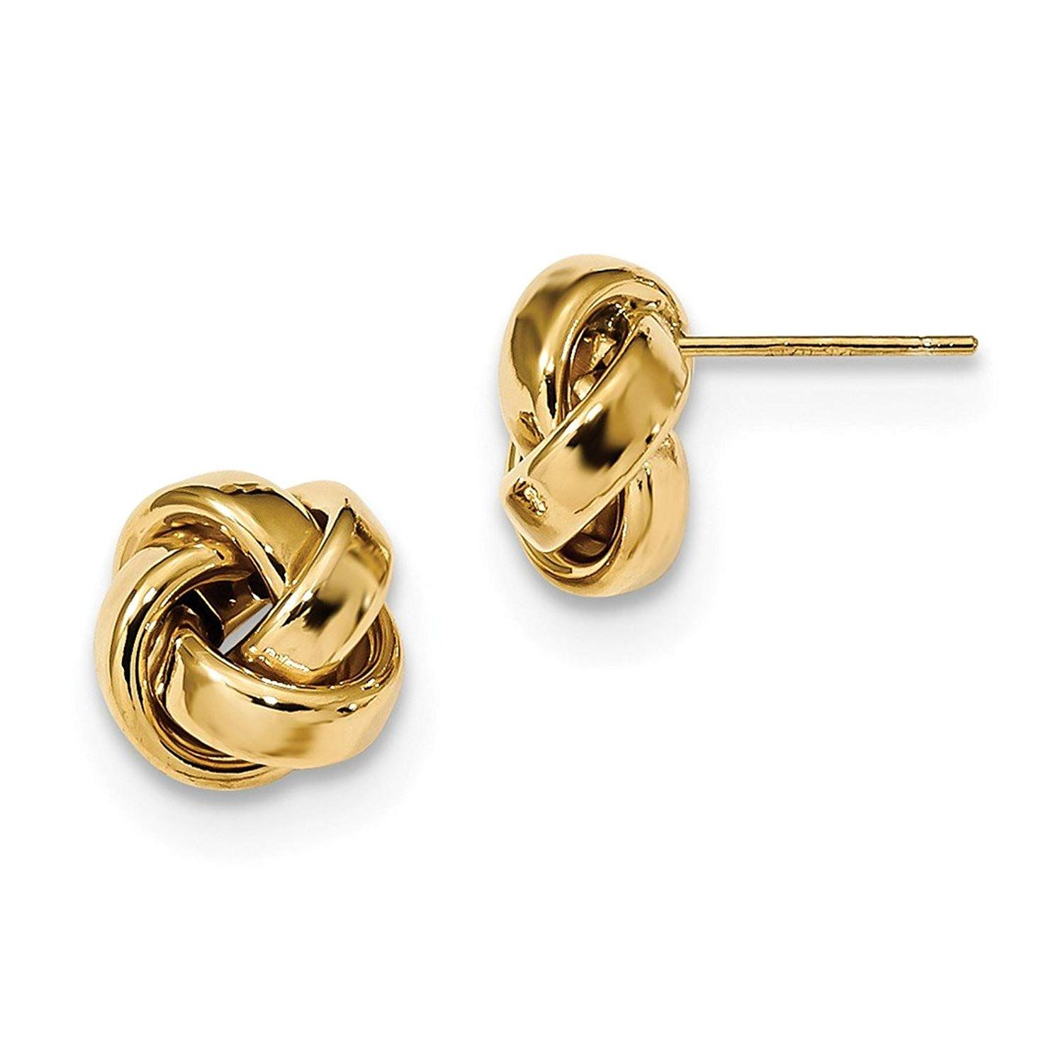14kt Yellow Gold Madi K Polished Love Knot Post Earrings