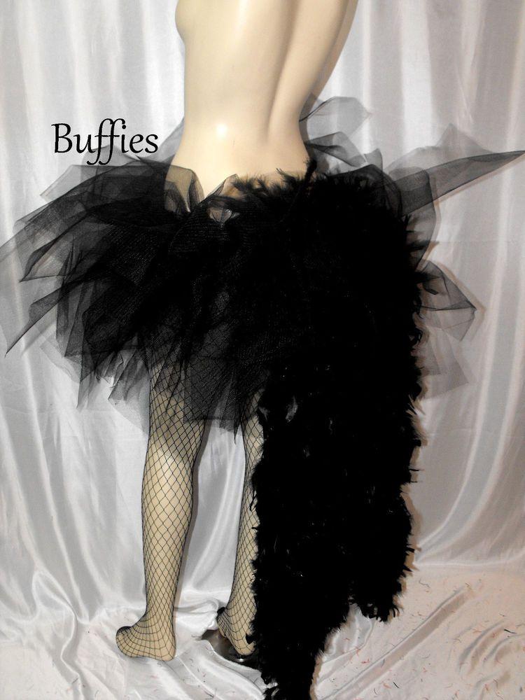 Black Feather Bustle Burlesque Carnival dancer All Colours Costume Bustle Belt