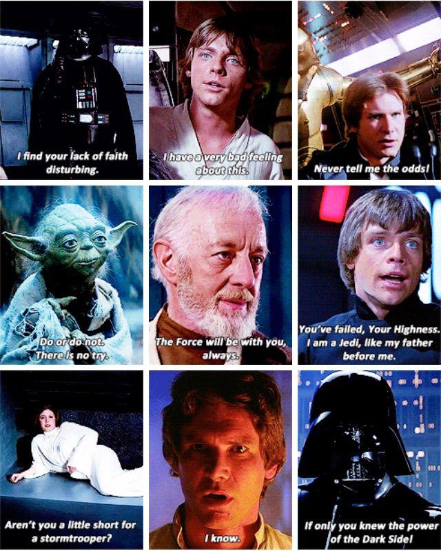 Star Wars Ot Memorable Quotes Well If U Also Count These Arent