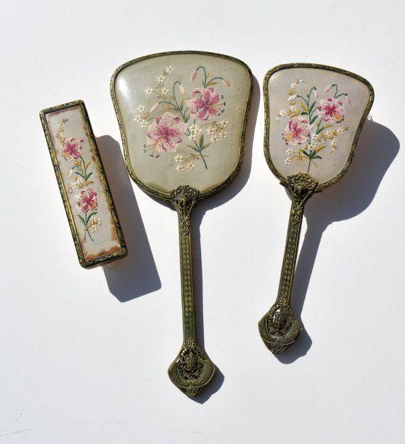 Ladies Filigree Handle Vintage Dressing Table Set by BiminiCricket ...