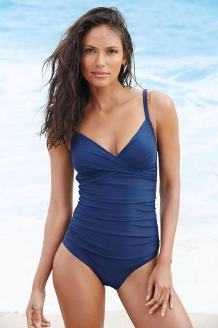3a6374e8663df Buy Navy Shape Enhancing Swimsuit from the Next UK online shop ...