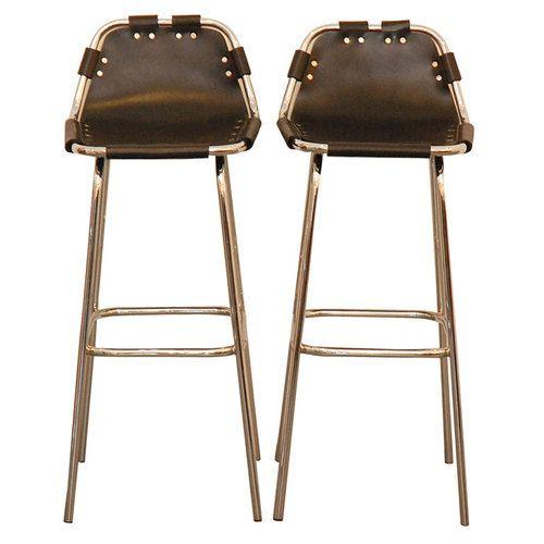 Les Arcs Black Leather Barstools | Eatery - Inspiration | Pinterest ...