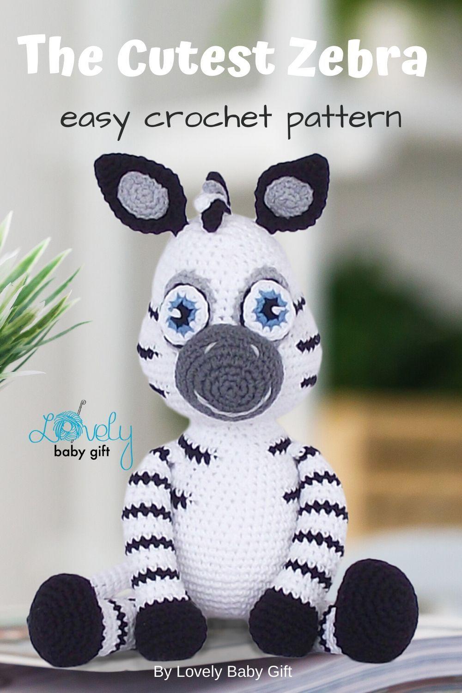Crochet pattern Zebra amigurumi instant download pdf | Etsy | 1500x1000