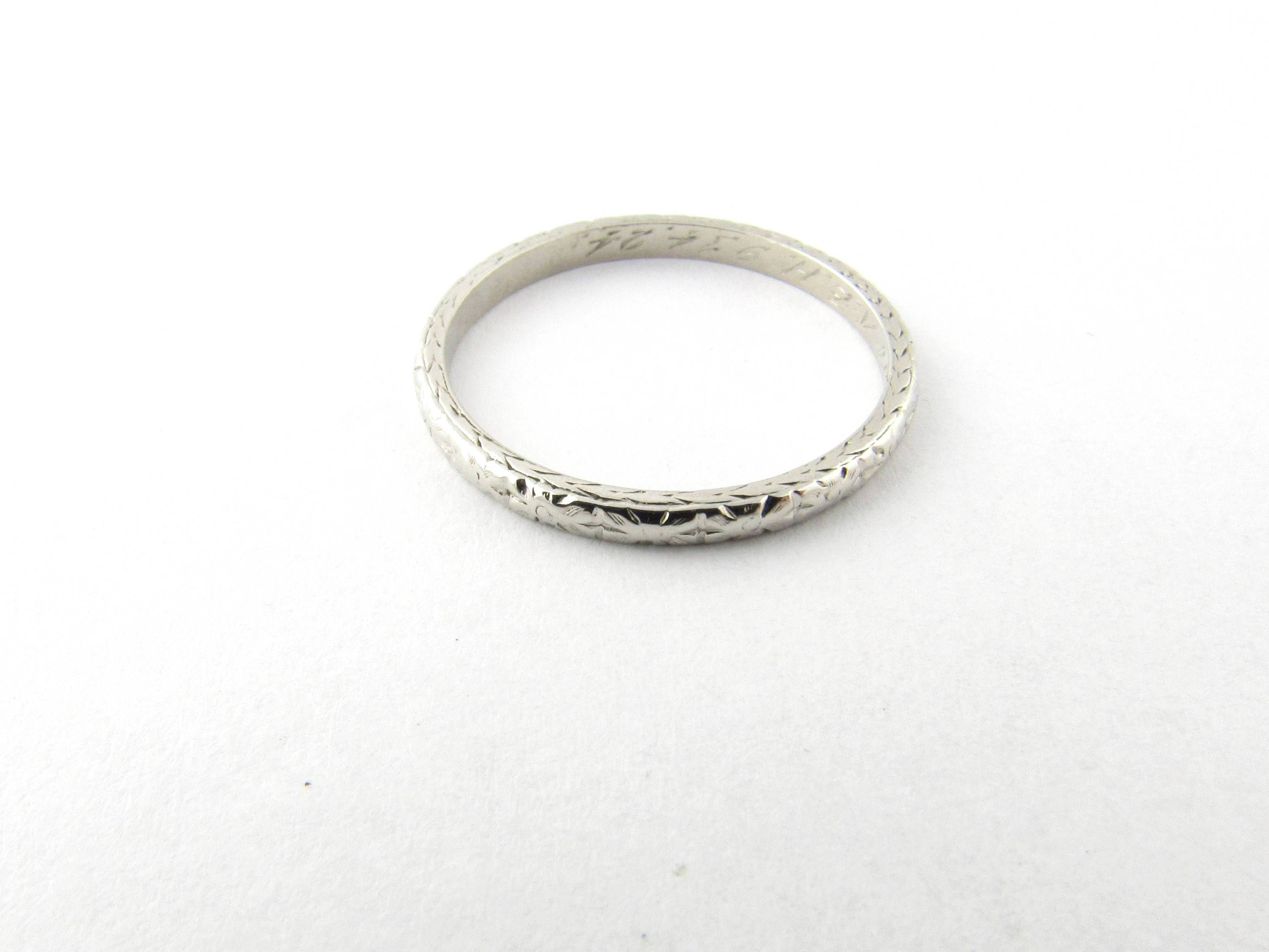 Gorgeous new piece: Vintage Platinum ... Check it out here! http://gold-and-silver-brokers.myshopify.com/products/vintage-platinum-wedding-band-size-7-2894?utm_campaign=social_autopilot&utm_source=pin&utm_medium=pin