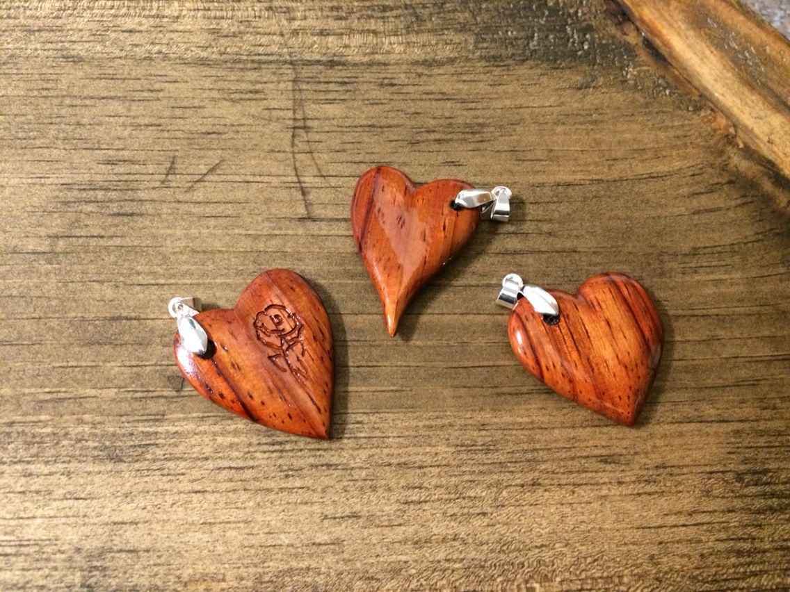 Bloodwood heart neckless поделки из дерева pinterest woodworking