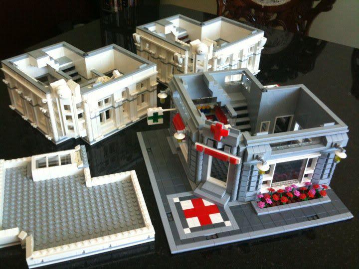Custom Lego Modular Building Instructions 003 Hospital   lego   Lego