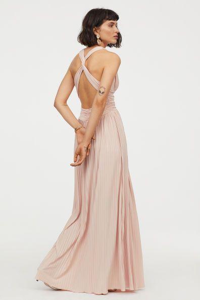 Plissiertes Maxikleid Modell H&M | Kleider damen ...