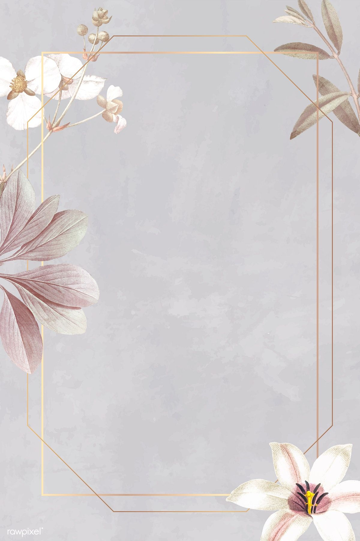Download premium vector of Frame with lily and bulltongue arrowhead background vector by Sasi about frame lily, pink grey flowers, flower frame, rectangled frame, and bulltongue 1213712