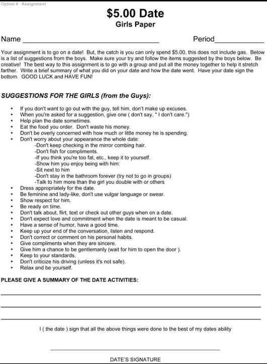 tips on high school dating