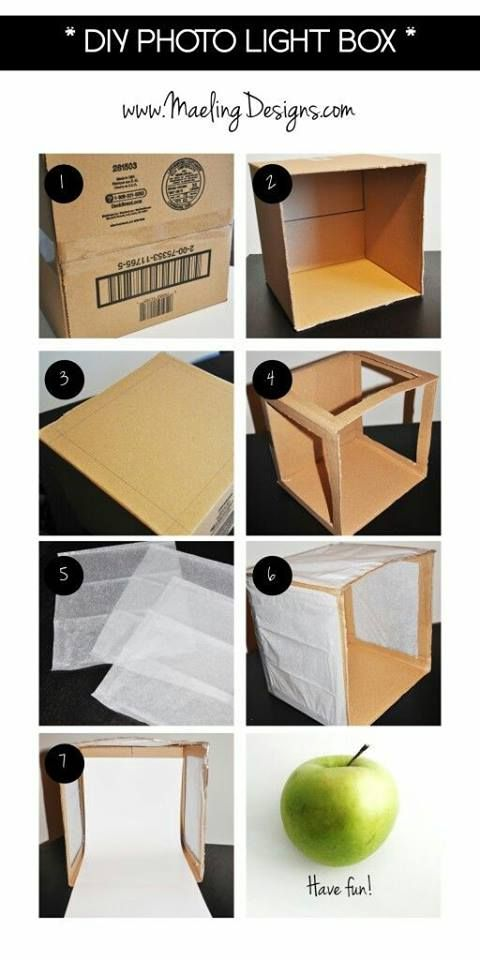 Membuat Studio Foto Mini Dari Kardus Dia Light Box Fotografie