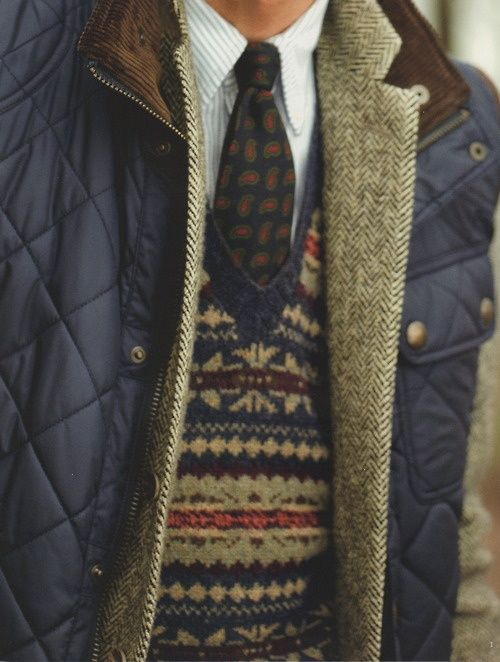jacket + tweed + sweater