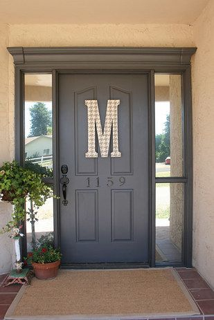Hang Foam Crown Molding Above Your Front Door And Paint It And Any