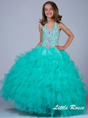 Little Rosie Ruffle Skirt Pageant Dress LR2039|PageantDesigns.com