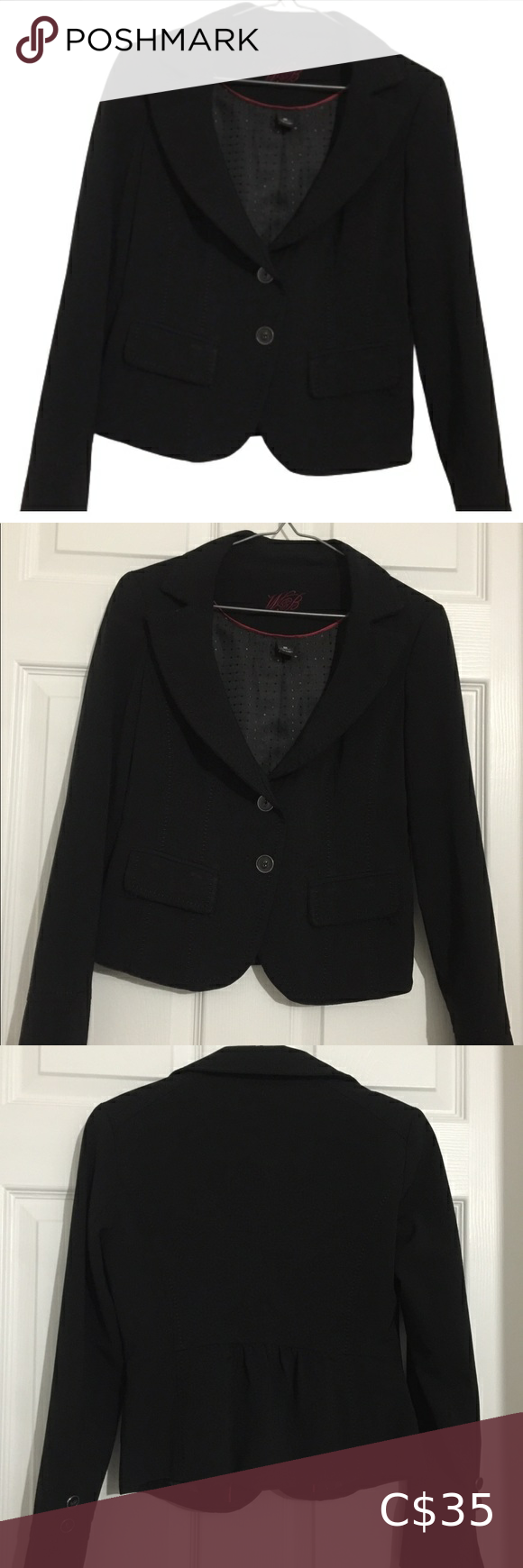Beautiful Black Buttoned Blazer