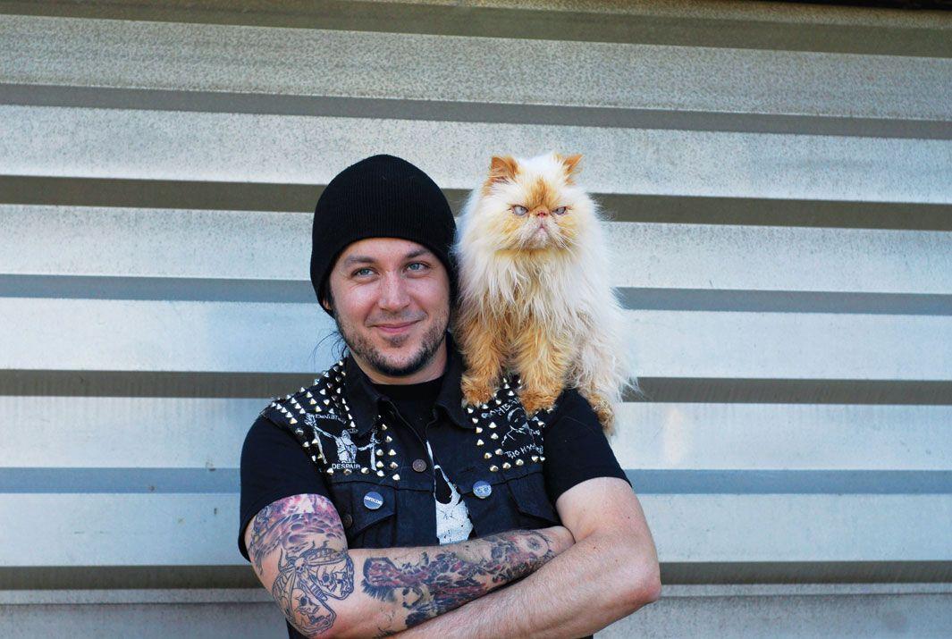 Cats And The Metalheads Who Love Them Cat Celebrating Metalhead