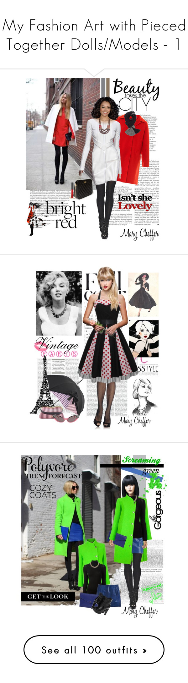 """My Fashion Art with Pieced Together Dolls/Models - 1"" by mcheffer ❤ liked on Polyvore featuring Libertine, Balmain, Weekend Max Mara, David Koma, Forever 21, David Aubrey, Alexander Wang, NARS Cosmetics, Chantal Thomass and Miu Miu"