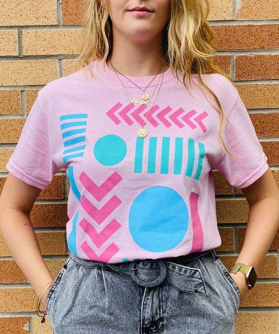 Hand printed graphic T-shirt