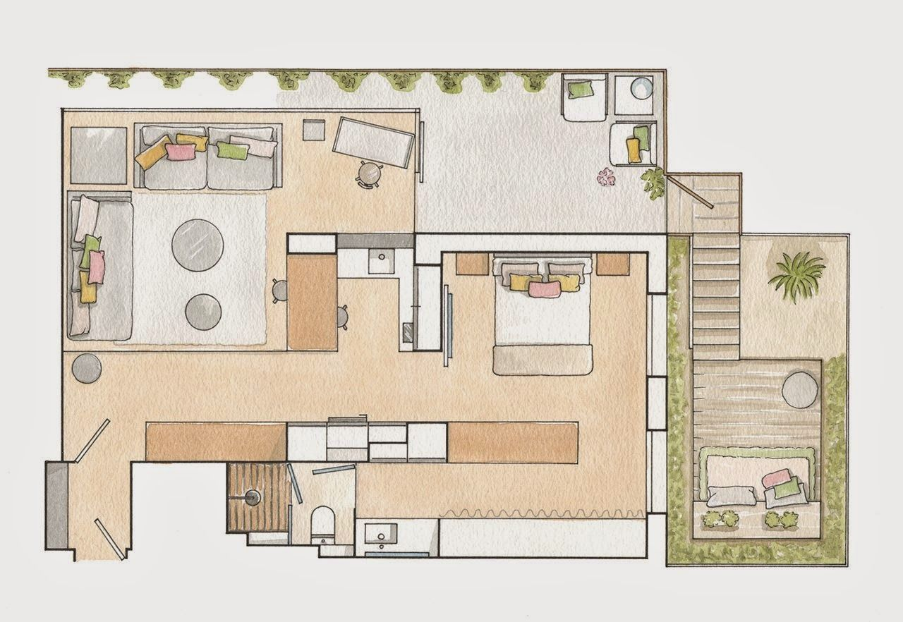 plan de appartement 50m2