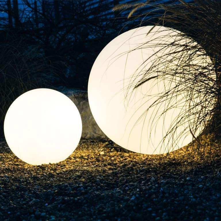 18 Solar Leuchtkugeln Fur Den Garten Bola De Luces Luces De Techo Techo De Pergola