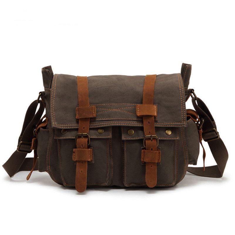 Sport / Travel Bag, Vintage Style Canvas & Leather
