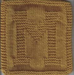 Alphabet Dishcloth Knitting Patterns : ALL letters - just type in the letter in the url. Knitted ...
