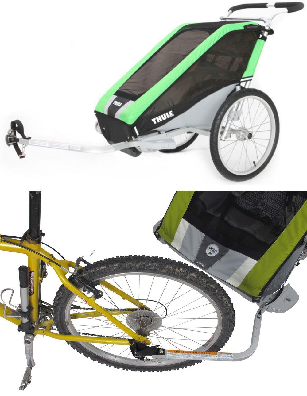 Thule Cheetah Bike Trailer and Stroller in Green. Super