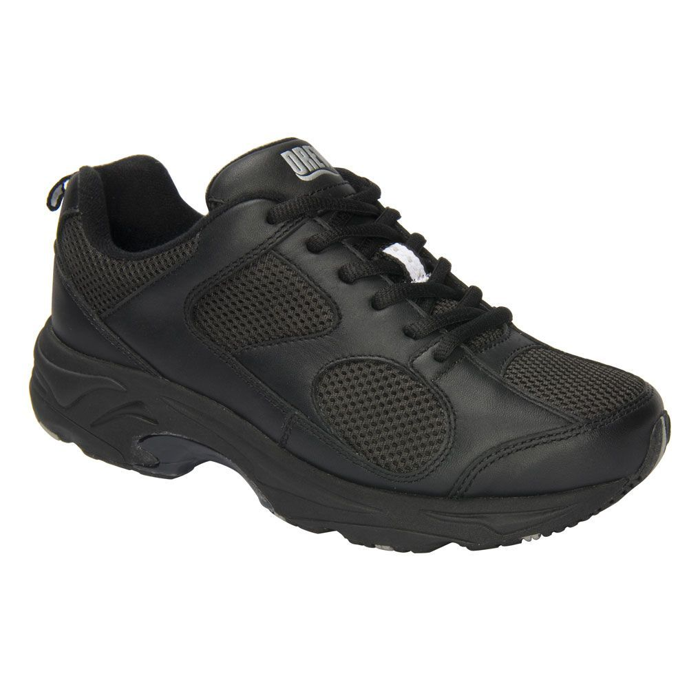 DrewR Flash Ii Womens Walking Shoes  Black Leatherblack Mesh  Wide  Size 6 Drewr Flash Ii Womens Walking Shoes  Black Leatherblack Mesh  Wide  Size 6 Woman Shoes average...