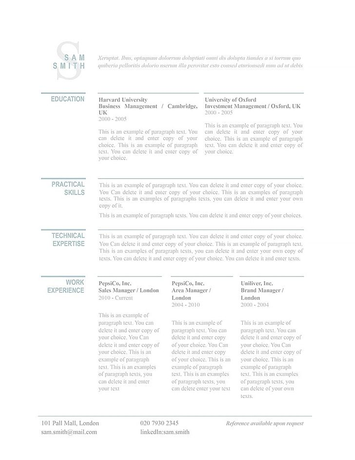 Explore our Classic Resume Templates to help you make your