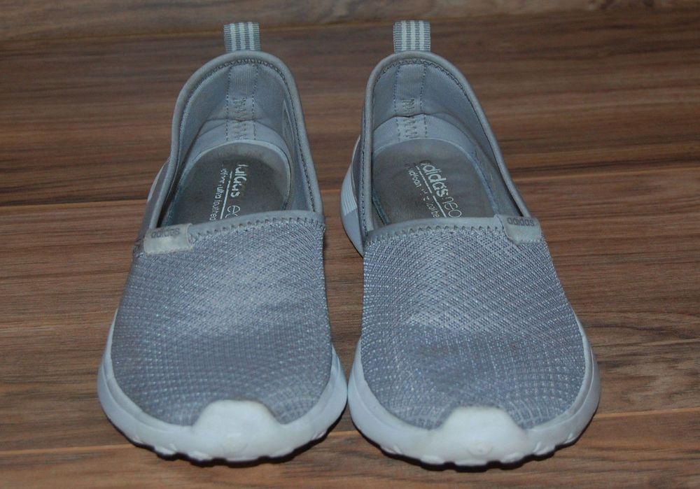 Adidas Neo Lite Racer Slip On Cloudfoam Gray Womens Size 7