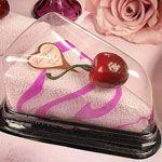 Towel Cake Wedge Pink