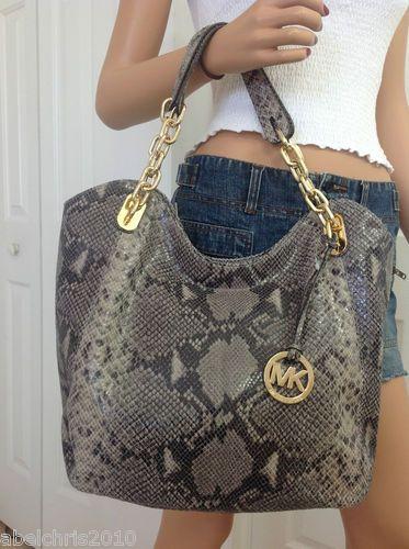 38becbbc9bc8 Buy michael kors python handbag grey   OFF66% Discounted