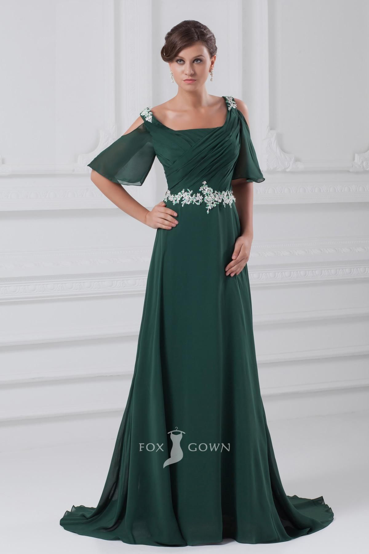 Plus size dark green prom dresses