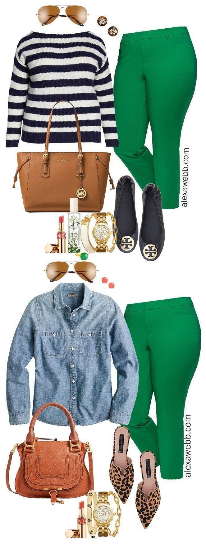 Plus Size Bright Green Pants - Part 2 - Alexa Webb -  Plus Size Bright Green Pants Outfits – Plus Size Spring Summer Work Outfit Idea – Plus Size Fas - #Alexa #Bright #Green #Pants #Part #plussizedresses #Size #Webb #womenglasses #womensfashionplussize #womensstyle
