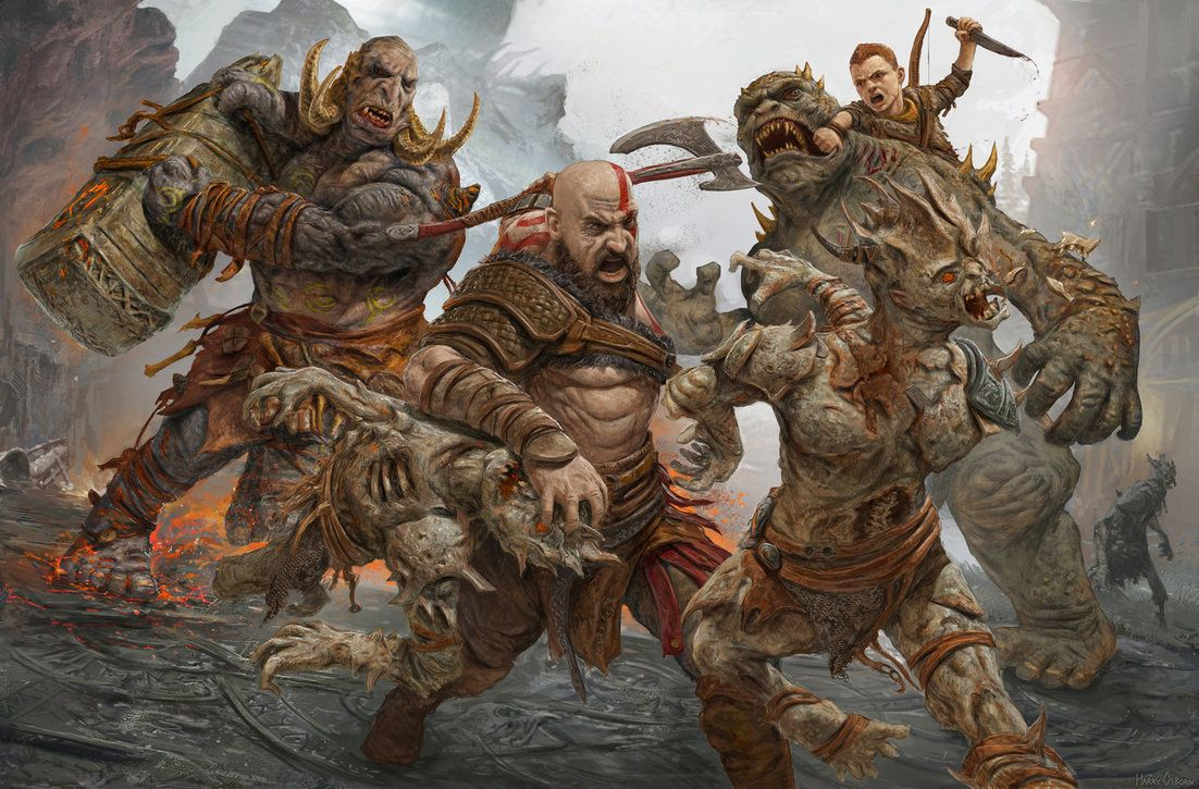 God Of War 4 By Https Harryosborn Art Deviantart Com On Deviantart God Of War Kratos God Of War God Of War 4