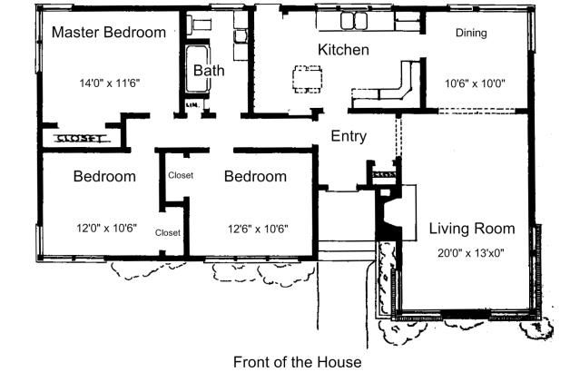 free floor plans for small houses - 3 Bedroom House Floor Plan