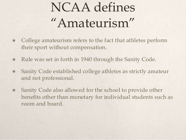 The ncaa national collegiate athletic association logically