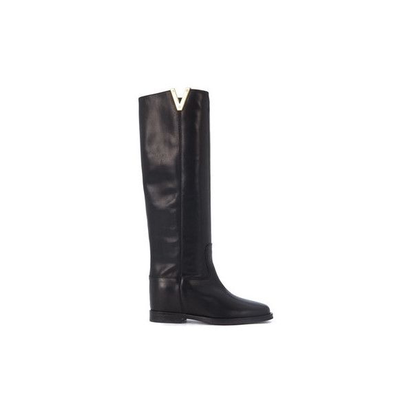 Clearance Many Kinds Of Via Roma Stivale in pelle liscia nera women's High Boots in Clearance Pay With Paypal Shop Cheap Online Outlet Footlocker Finishline rg6aB1