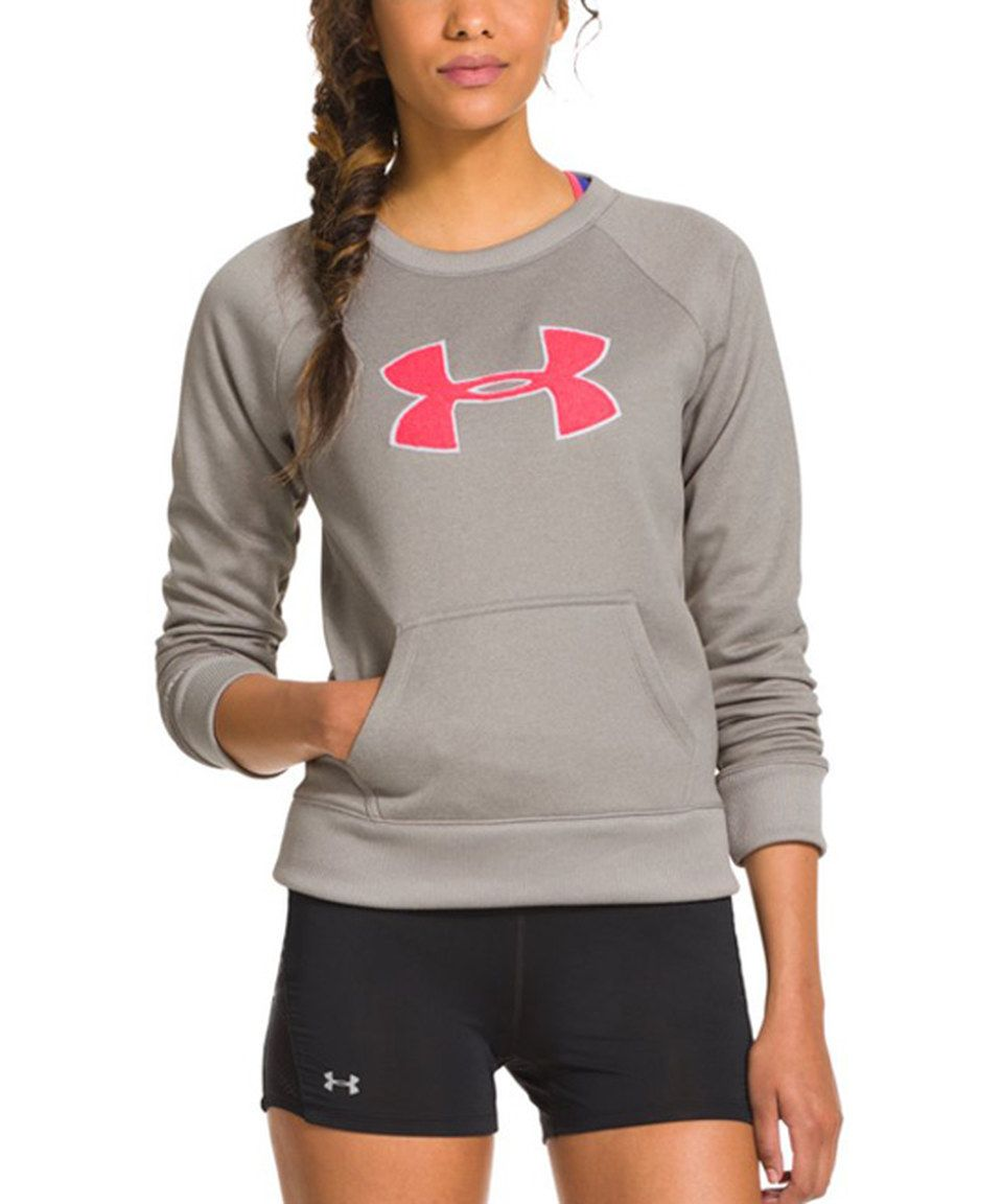 new style dc2a4 e4150 Another great find on  zulily! Under Armour® Warm Gray Heather Big Logo  Letterman Crew Sweatshirt by Under Armour®  zulilyfinds