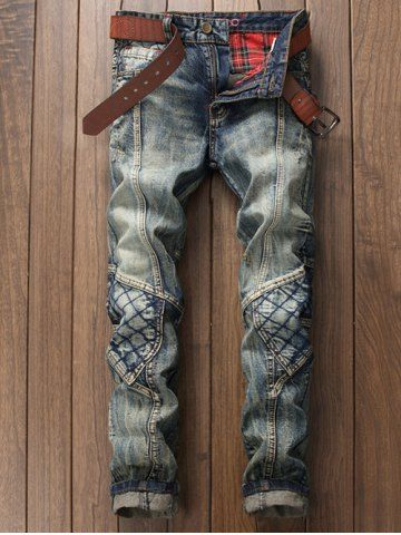 GET $50 NOW | Join RoseGal: Get YOUR $50 NOW!http://www.rosegal.com/mens-pants/stitching-rhombus-paneled-zipper-fly-779993.html?seid=5213390rg779993