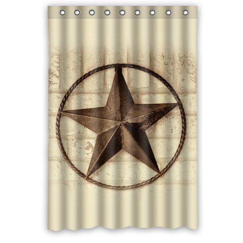 48 X 72 Creative Bath Western Texas Star Shower Curtains
