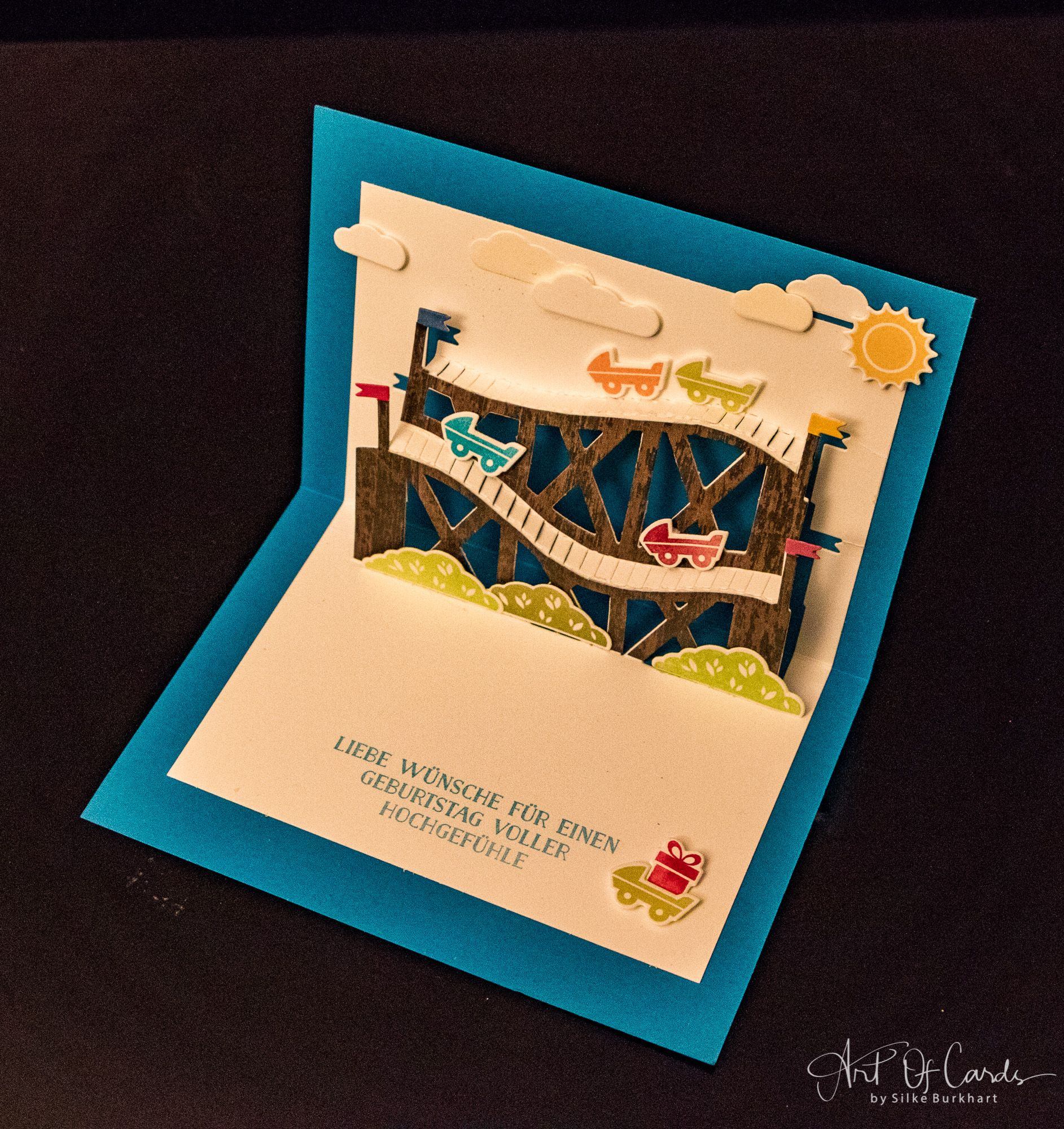 Открытка поп ап скрапбукинг в виде сундука, днем рождения