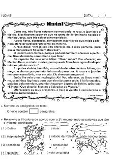 5353bc91cd3c Natal Produção de Texto Interpretação de Texto Atividades Exercícios papai  noel rena trenó imprimir (2