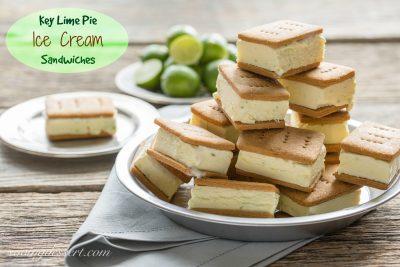 Key Lime Pie Gelato Sandwiches #icecreamsandwich