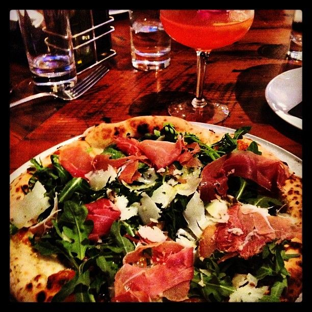 Taken by @jgray3015 on Instagram #TruffleOil #TrufflePecorino #Prosciutto #Pizza #BuildPizzeria #PizzaArtist